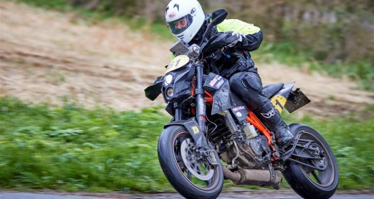 Rallye de la Sarthe, 1<sup>ere</sup> épreuve du championnat de France, 7 et 8 Avril 2018 Florian Meneret # 161, KTM 690 Duke R