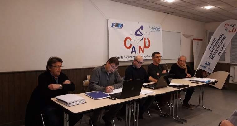 AG du Comité Départemental Motocycliste de l'Ain, 1er février 2019