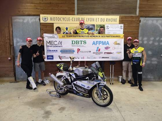 Titre de Champion de France pour le Team Raffin Moto, 25 power, finale du Championnat de France,15 octobre 2019, Ales