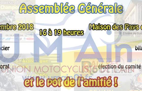 Assemblée générale 2018 à St Etienne du Bois (01)