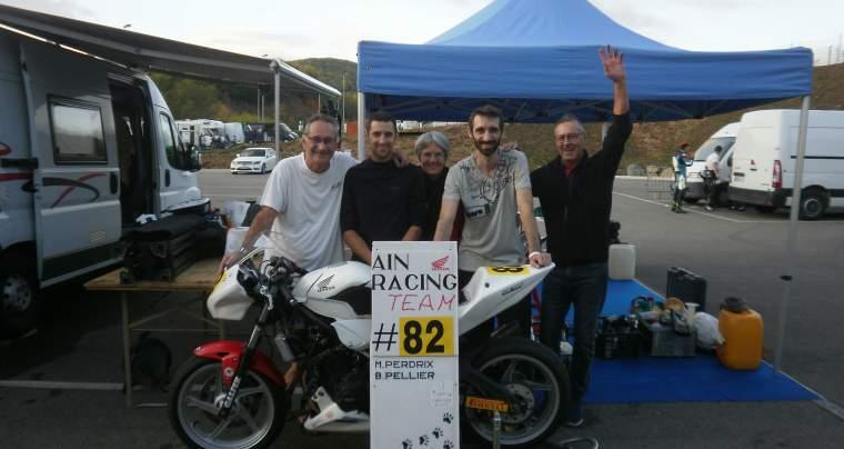 Podium pour l'Ain Racing Team,  Finale du Championnat France 25 Power endurance, Ales, 15 octobre 2019