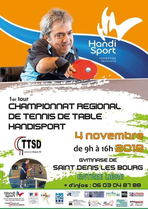 Compétition ping-pong Titoy, Dimanche 4 Novembre 2018, St Denis les Bourg