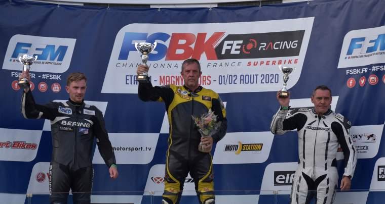 MAGNY-COURS 1ère manche du championnat de France VMA Superbike 750/1100 et Supersport 600, les 1 et 2 Août 2020.
