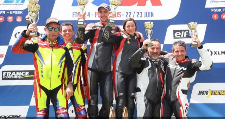 Emmanuelle CLEMENT, passagère side-car, 4 <sup>e</sup> manche du Championnat de France Superbike, Pau, 1 et 2 juin 2019