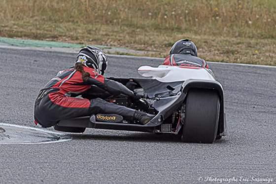 Emmanuelle CLEMENT, passagère side-car, Championnat de France, Albi, 14 et 15 septembre
