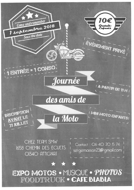 Journée des Amis de la moto, 1er septembre 2018