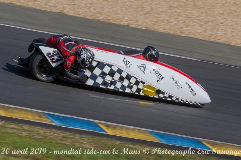Emmanuelle CLEMENT, passagère side-car, 6 et 7 Avril Championnat de France au Mans puis aux 24h les 20 et 21 Avril 2019